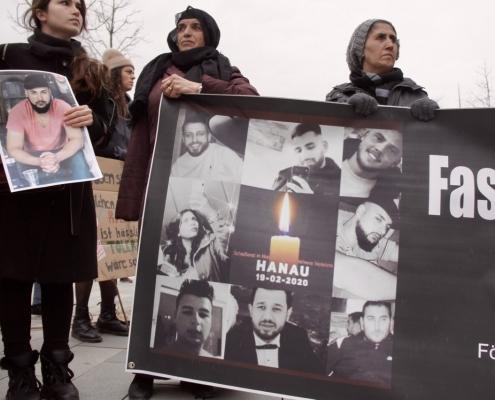 Trauerdemonstration in Hanau am 22.02.2020